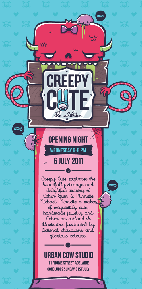 creepy cute exhibition at urban cow adelaide