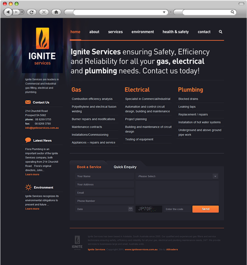 Ignite Services Homepage