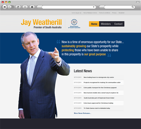 Jay Weatherill Premier of South Australia Website