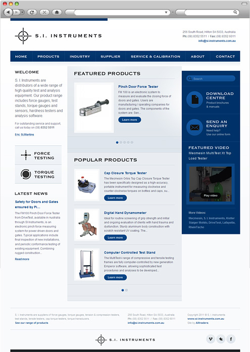 SI Instruments homepage