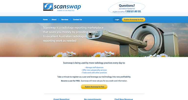 Scanswap - radiology reporting marketplace
