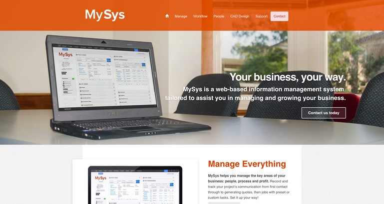 MySys Business Management System