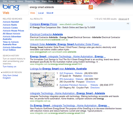 Energy smart adelaide Bing Search Result